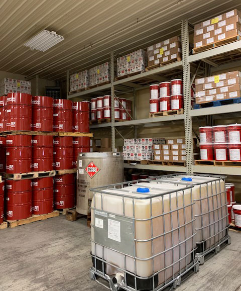 Storage of chemicals at twin specialties